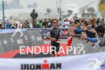 Josh Amberger celebrates at the finish line at the 2016…