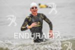 Mareen Hufe during the swim portion of the 2016 Ironman…