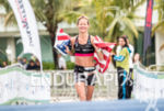 Liz Lyles during the finish line portion of the 2016…