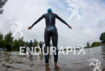 Athlete prepares for start of the the swim leg at…