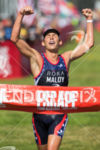 Joe Maloy (USA) wins the pro men's race at the…