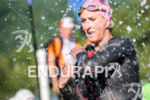 Meredith Kessler during the swim portion of the 2016 Ironman…