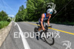 Jarrod Shoemaker during the bike portion of the 2016 Ironman…