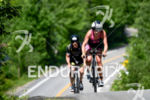 Holly Lawrence during the bike portion of the 2016 Ironman…