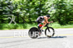 Cody Beals during the bike portion of the 2016 Ironman…