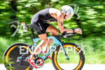 Justin Park during the bike portion of the 2016 Ironman…