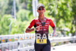 Meredith Kessler during the run portion of the 2016 Ironman…
