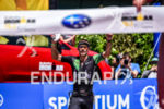 Lionel Sanders during the finish line portion of the 2016…