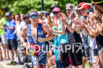 Jarrod Shoemaker during the run portion of the 2016 Ironman…