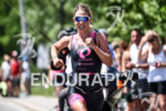 Holly Lawrence during the run portion of the 2016 Ironman…