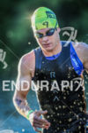 Steve Mantell (USA), exits swim at the 2016 Ironman 70.3…
