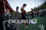 Sam Appleton suits up before the race start at the…