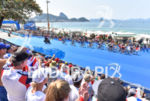 Men's pack during the bike portion of the 2016 Rio…