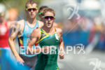 Henri Schoeman during the run portion of the 2016 Rio…