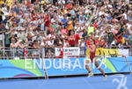 Nicola Spirig during the run portion of the 2016 Rio…