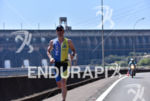 Triathlete during the scenic run portion of the 2016 Ironman…