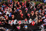Age Group athletes waiting during the rolling start of Ironman…