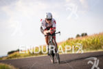 Celine Schaerer during the bike leg at Ironman Vichy in…