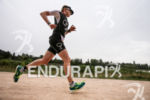 Catherime Faux (GBR) during the run leg at Ironman France…