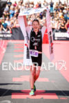 Catherine Faux (GBR) wining Ironman Vichy in Vichy, France on…