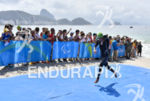 Paratriathlete during the swim portion of the 2016 Rio Paralympics…