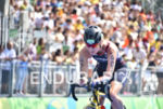 Claite Cunningham during the bike portion of the 2016 Rio…