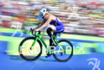 Paratriathlete during the bike portion of the 2016 Rio Paralympics…