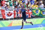 Gwladys Lemoussu during the run portion of the 2016 Rio…