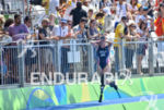 Allysa Seely during the run portion of the 2016 Rio…