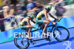 Michellie Jones and Katie Kelly (AUS) during the bike portion…