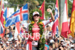 1st Daniela RYF (SUI) crossing the finish line of the…
