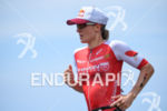 Daniela Ryf during the run portion of the 2016 Ironman…