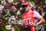 Jodie Swallow during the run portion of the 2016 Ironman…