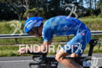 Andreas Raelert during the bike portion of the 2016 Ironman…
