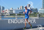 Andreas Raelert during the run portion of the 2016 Ironman…