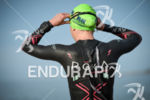 Kirsty Jahn during the swim portion of the 2016 Ironman…