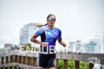 Ariane Monticeli during the run portion of the 2016 Ironman…