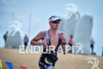 Matt Hanson during the run portion of the 2016 Ironman…