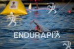 Lauren Goss during the swim portion of the 2016 Ironman…