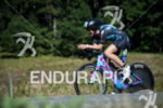 Alicia Kaye during the bike portion of the 2017 Ironman…