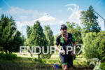 Lionel Sanders during the run portion of the 2017 Ironman…