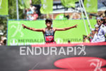Barbara Riveros during the finish portion of the 2017 Ironman…
