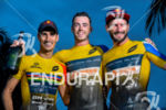 Top 3 men at the 2017 Super League Triathlon on…