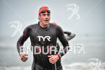 Andy Potts during the swim portion of the 2017 Ironman…