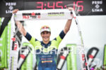 Andy Potts during the finish portion of the 2017 Ironman…