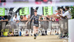 Heather Jackson during the finish portion of the 2017 Ironman…