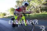 Holly Lawrence leading the bike leg in the female pro…