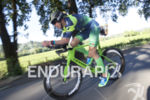 Andy Potts during the bike leg at the 2017 Ironman…