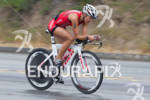 Linsey Corbin never quits at the  Ironman 70.3 California on…