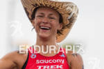 Linsey Corbin never gives up and finishes at the  Ironman…